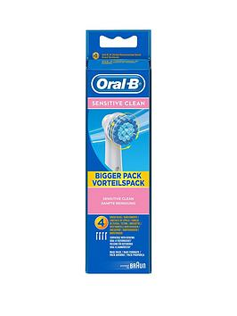 OralB Sensitive Toothbrush Heads 4 Pack