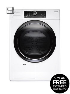 whirlpool-supreme-care-premium-hscx90430-9kg-heat-pump-tumble-dryer-white