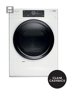 whirlpool-supreme-care-premium-hscx10441-10kg-load-heat-pump-tumble-dryer-whitebr-with-5-year-free-extended-warranty