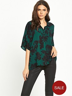 vila-abstract-floral-blouse-ponderosa-pine