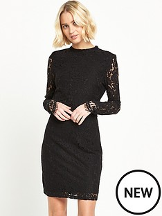 vila-layered-lace-bodycon-dress