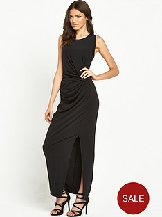 vila-gathered-waist-maxi-dress