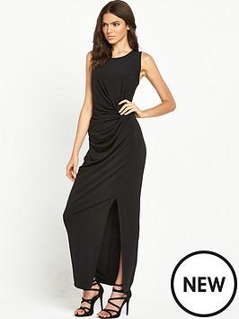 vila-gathered-waist-maxi-dress