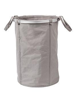 sabichi-foldable-oxford-laundry-bin-putty