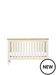 mothercare-lulworth-cot-bed-white-pepper