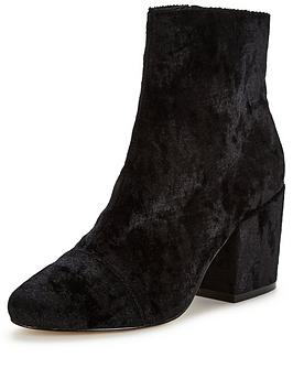 office-ant-block-heel-velvet-ankle-boot