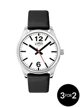 limit-white-dial-black-leather-strap-mens-watch