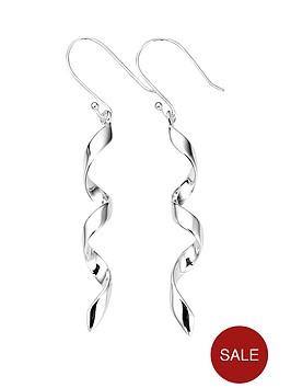 elements-sterling-silver-twisted-drop-earrings