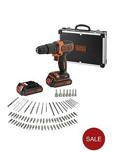 black-decker-bdchd18bafc-18-volt-hammer-drill-2x-batteries-flight-case-andnbsp80-accessories