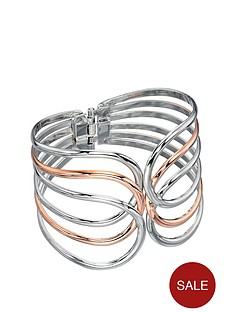 fiorelli-rose-and-silver-tone-cut-out-bangle