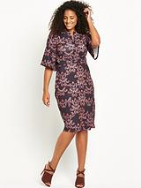 WIGGLE DRESS IN KALIEDASCOPE PRINT