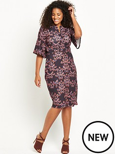 lost-ink-curve-wiggle-dress-in-kaliedascope-print