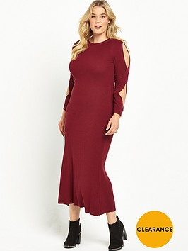 lost-ink-curve-lost-ink-swing-dress-with-cold-shoulder