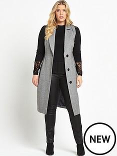 lost-ink-curve-sleeveless-waistcoat-grey
