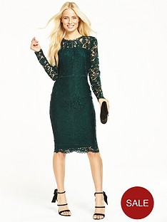 v-by-very-long-sleeve-ladder-detail-lace-midi-dress