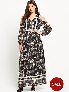 lost-ink-curve-cold-shoulder-maxi-dress-with-lace-trim