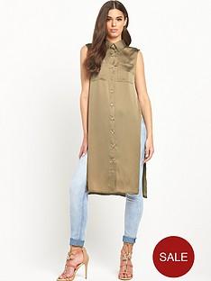 glamorous-longlinenbspembroidered-back-shirtnbsp