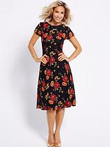 ROSE DETAIL LACE DRESS