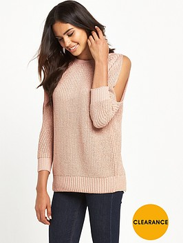 river-island-lurex-cold-shoulder-jumper