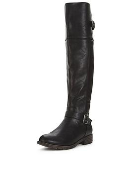 V By Very Luciana Cleated Sole Over The Knee Boot