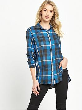 Denim & Supply  Ralph Lauren Boyfriend Check Shirt  Halsey Plaid