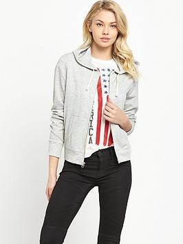 Denim & Supply  Ralph Lauren Zip Hoodie  Hathaway Grey Heather
