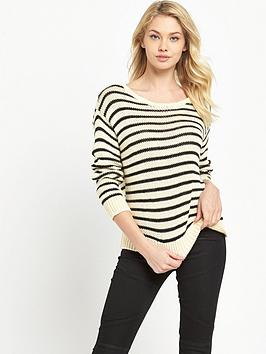 Denim & Supply  Ralph Lauren Stripe Knit  CreamBlack
