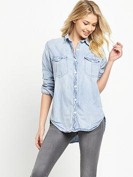 Denim & Supply  Ralph Lauren Boyfriend Surplus Denim Shirt  Antique Chambray