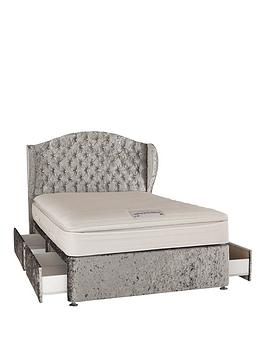 Very Boutique From Airsprung Marilyn 1000 Pocket Pillow Top Divan Bed With Headboard And Optional Storage