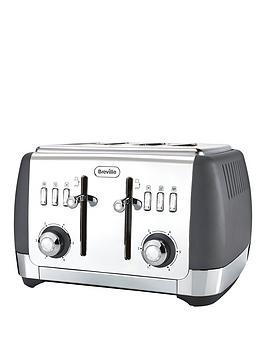 Breville   Vtt764 Strata 4-Slice Toaster - Grey