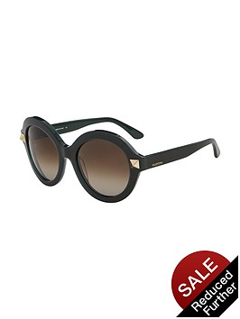 valentino-rockstud-round-sunglasses-black