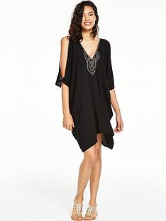 v-by-very-embellished-batwingnbspbeach-dress
