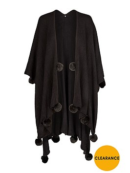 v-by-very-pom-pom-detail-fleece-cape