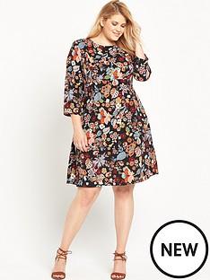 ri-plus-floral-printed-midi-dress
