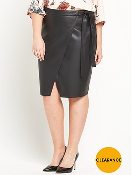 ri-plus-leather-look-wrap-mini-skirt