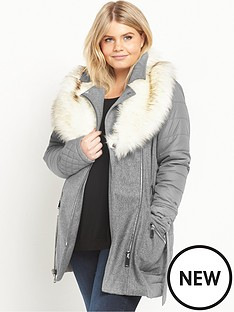 ri-plus-faux-fur-collar-padded-coat