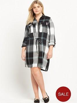 ri-plus-check-zip-front-dress