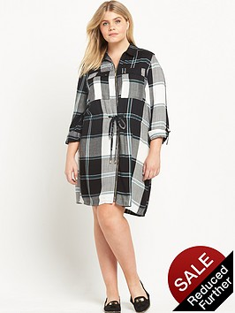 ri-plus-check-zip-front-dress