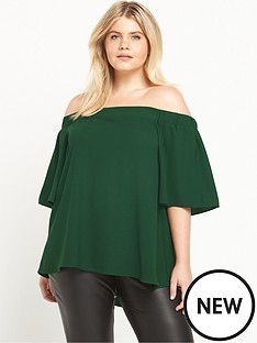 ri-plus-green-bardot-top