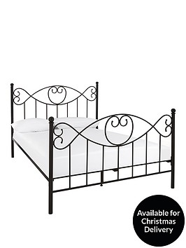 juliette-metal-bed-frame-with-optional-mattress