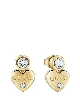 guess-gold-plated-mini-heart-earrings