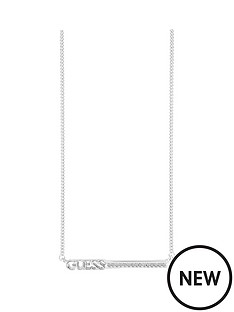 guess-guess-rhodium-plated-bar-necklace