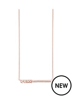 guess-rose-gold-plated-bar-necklace