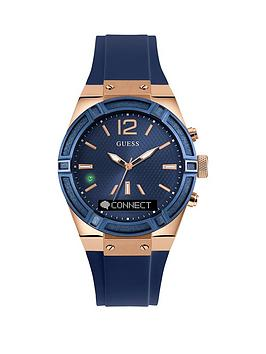guess-connect-blue-dial-silicone-smartwatch