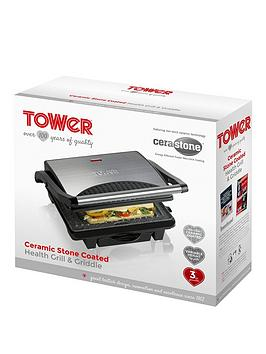 Tower 4Person Ceramic Health Grill &Amp Griddle