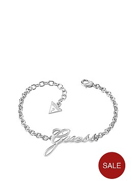 guess-rhodiumnbspplated-logo-bracelet