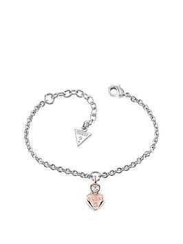 guess-two-tone-mini-heart-charm-bracelet