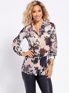 myleene-klass-ruffle-front-printed-blouse