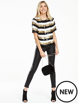 v-by-very-premium-stripe-sequin-embellished-top