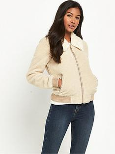 river-island-faux-fur-collar-fleece-bomber-jacket